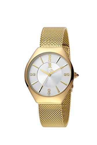 Just Cavalli Reloj Análogo clásico para Mujer de Cuarzo con Correa en Acero Inoxidable JC1L026M0085