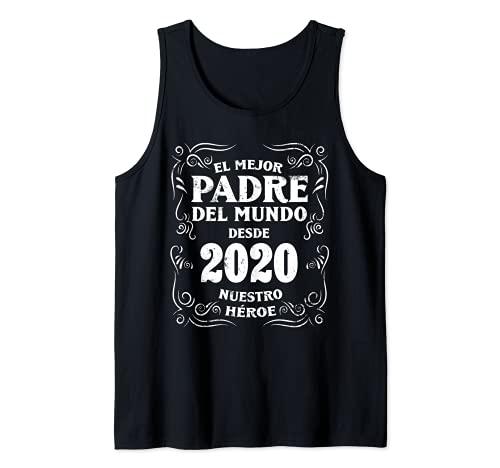Hombre El Mejor Padre del Mundo desde 2020 Dia del Padre Camiseta sin Mangas