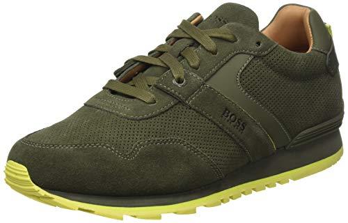BOSS Herren Parkour_Runn_sdpf Sneaker, Grün (Dark Green 307), 43 EU