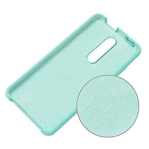 Liluyao Funda telefónica para Xiaomi Funda Protectora de Silicona sólida a Prueba de Gotas de Color sólido for Xiaomi Redmi K20 / K20 Pro/Mi 9T / Mi 9T Pro (Color : Mint Green)