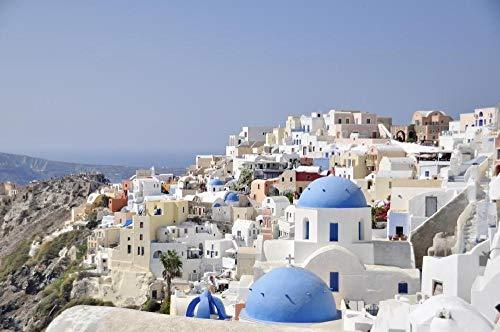 Puzzle de Madera de 1500 Piezas para Adultos, Santorini