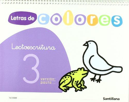 Letras de Colores 3 Cuad Lectoescritura Version Pauta Santillana