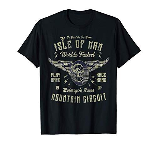 Carreras de motos en la Isla de Man Motocicleta de ruedas c Camiseta