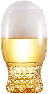 Rainbowking 18oz recyclable beer plastic cup - SET OF 24 - stemless shatterproof plastic beer glasses