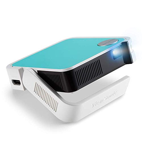 ViewSonic M1 Mini Portable LED Projector with JBL Speaker HDMI USB Type-A Automatic Vertical Keystone Built-in Battery and 1080p Support (Renewed)