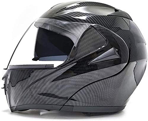 QDY Helmet Motorcycle Modular Full Face Helmets for Men and Women,Full Face Helmets with Double Visors for All Seasons,for Motorbike Moped Street Racing Helmets Dot/ECE Approved