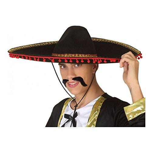 Atosa-37885 Sombrero Mexicano, Color Rojo (37885)