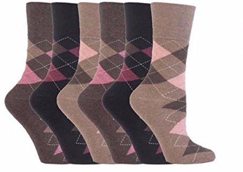 Sock Shop 6Paar Everyday Gentle Grip Socken siehe Variationen Damen 4–8 Gr. One size, 6 X RH38