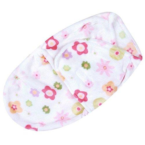Couverture pour bébé couverture d'emmaillotage fille gigoteuse polaire Gigoteuse d'emmaillotage nouveau-né 0–3 mois