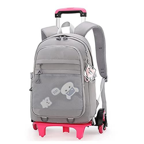 YUTCRE Mochila Trolley Escolar Niña, Mochila Escolar Trolley Bag Niños Desmontable Bandolera Maleta Multifunción Equipaje de Mano Bolsa de Viaje para Adolescentes ( Color : Grey , Size : 44*30*20cm )