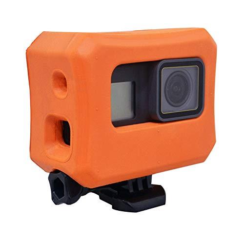 Floaty para GoPro Hero 6 Hero 5 cámaras, Funda Flotante Naranja para GoPro Flotador Accesorios Uso para Deportes acuáticos, natación, Buceo