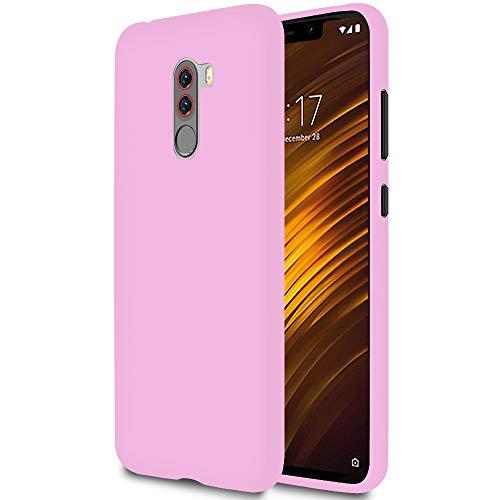 United Case Funda Fina para Xiaomi Pocophone F1 | TPU | en Rosado Mate| Protección Puertos