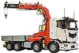 Technic Building Blocks Modelo Camión Grúa, Camión Bomberos Gigante 42043 RC Crane Truck, 8230 Piezas Juguetes de Construcción Compatibles con Lego Technic