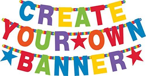 amscan 120183 Partykette Birthday Personalisierbar, Regenbogenfarben, Einheitsgröße
