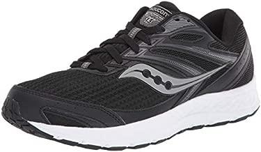 Saucony mens Cohesion 13 Walking Shoe, Black/White, 9.5 Wide US