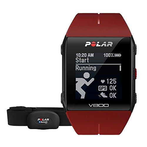 Polar V800 Red HR - Reloj deportivo GPS y sensor de frecuencia cardíaca H10, color rojo