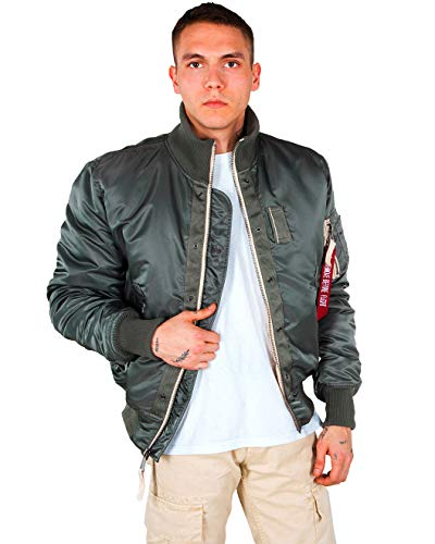 Alpha Industies Top Gun Jacke Grün/Grau M