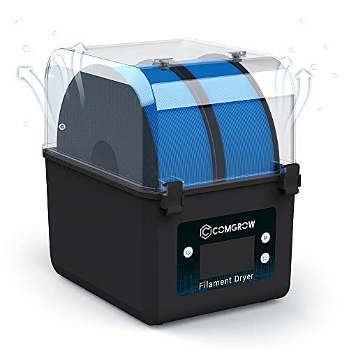 Caja secadora de filamento para impresora 3D, caja de almacenamiento de filamento 3D Comgrow, caja grande de filamento 3D para filamento de 2 kg, compatible con filamento de 1,75 mm, 2,85 mm, 3,00 mm