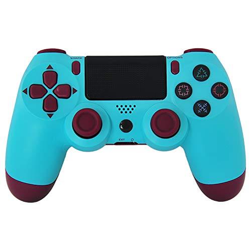 OLLM Wireless-Game-Controller, Ps4 Controller Controller Vier Generationen Schwingungsrückkopplung angewendet-Bluetooth 4.0-Blau_Grün