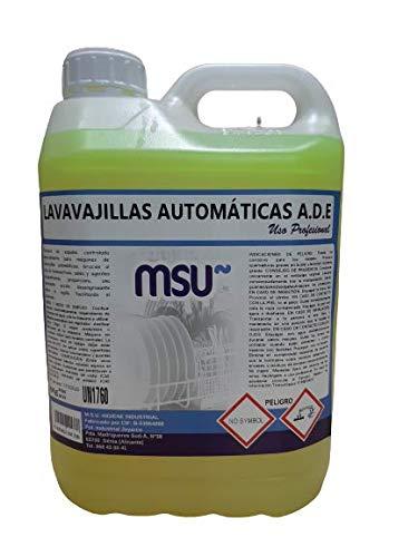 MSU® - Detergente Lavavajillas Máquina Extra Profesional. Envase 6 Kilos. - Para lavado de la vajilla y utensilios de cocina en máquina automática y túneles de lavado.