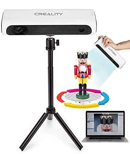 Creality Escáner 3D para impresora 3D - Escáner 3D de mano y automático con trípode giratorio, kit de escáner 3D profesional para modelado 3D