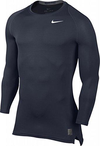 Nike Men's Pro Cool Compression L/S, Obsidian/Dark Grey/White, SM