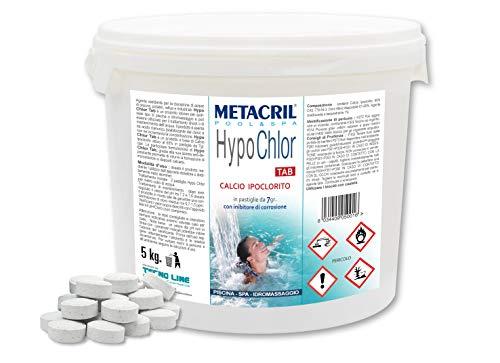Metacril HypoChlor Tab de 5 kg de calcio hipoclorito 65% en pastillas de 7 g para piscina e hidromasaje – Envío inmediato