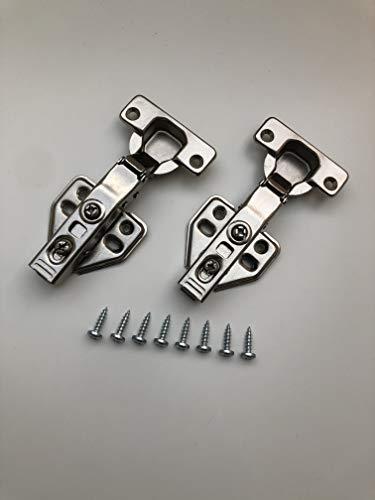 Scharniere Set (neu) passend für Küchen Schränke (z.B. Nolte Küchen) mit 2 Scharniere und 8 Schrauben