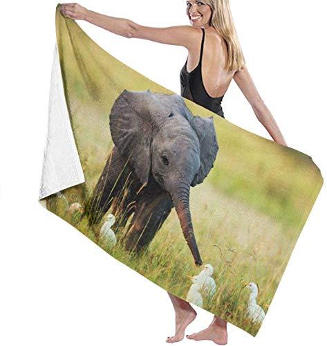 LREFON Niedliche Baby Elefant und Reiher Badet & uuml; Cher Gro & szlig; e Weiche, Schnell trocknende Poolhandt & uuml; Cher Ideal