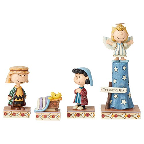Enesco Peanuts by Jim Shore Christmas Pageant True Meaning Figurine Set, 7.5 Inch, Multicolor