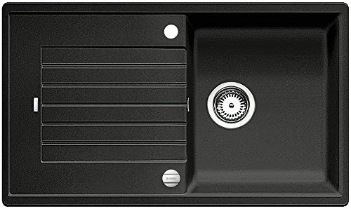 BLANCO ZIA 5 S – Rechteckige Granitspüle für 50 cm breite Unterschränke – aus SILGRANIT – Grau – 520502