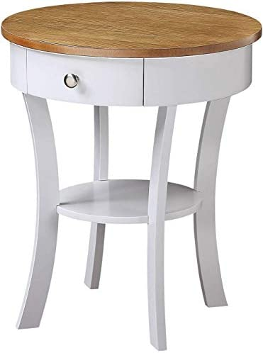 Best Convenience Concepts Classic Accents Schaffer End Table, Driftwood / White