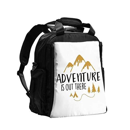 Adventure Is Out There - Bolsa de pañales multifunción de gran capacidad para mamá, papá, bolsa de cuidado del bebé, bolsa de pañales