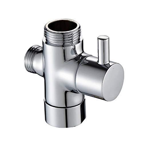 KDOAE Válvula de Desvío G1 / 2'Brazo de Ducha Válvula de ángulo de latón 3 vías Válvula de Ducha Válvula Baño Ducha Universal Splitter Válvula Desviadora de Ducha (Color : Silver, Size : G7/8)