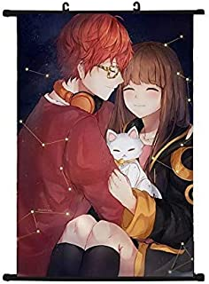 Mxdza Japanese Anime Anime Game Mystic Messenger 707 Luciel Choi Wall Scroll Poster Home Decor Wall Scroll Posters for Decorative 40x60CM