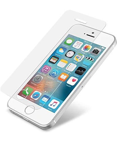 Cellularline TEMPGLASSIPH5A - Protector de Pantalla (Protector de Pantalla, Teléfono móvil/Smartphone, Apple, iPhone SE/5S/5/5C, Resistente a rayones, Transparente)