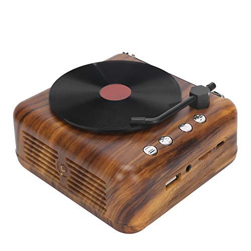 Sxhlseller Retro-Plattenspieler Mini-Retro-Vinyl-Lautsprecher Drahtlose Bluetooth-High-Definition-Subwoofer-Sprachbox