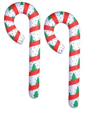 2 JUMBO Inflatable CANDY CANES/44' CHRISTMAS Decor/DECORATIONS/FESTIVE Inflates