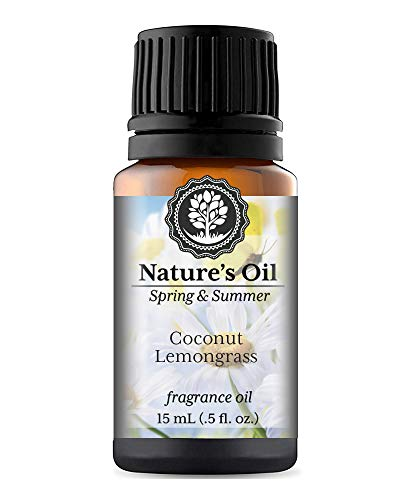 Coconut Lemongrass Fragrance Oil (15ml) For Diffusers, Soap Making, Candles, Lotion, Home Scents, Linen Spray, Bath Bombs, Slime