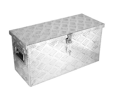 POINSETTIA Alubox mit Moosgummidichtung Alukiste Transportbox Lagerbox Truckbox LxBxH 60x24.5x30cm Silber