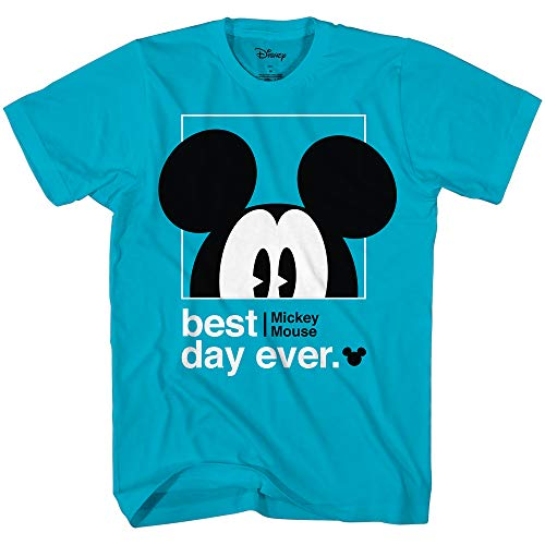 Disney Mickey Mouse Best Day Ever Toddler Youth Juvy Kids TShirt 4T Turquoise
