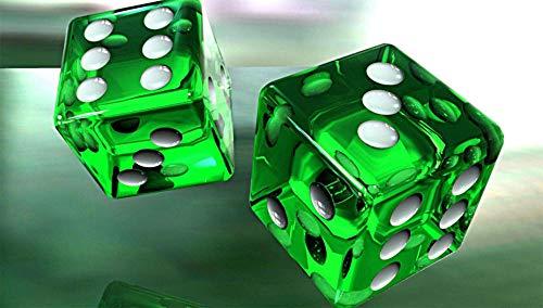 Jigsaws Puzzel,Puzzels 3D-Groene Glanzende Kubussen,Diy Houten Puzzle 300 Stukjes, Legpuzzels Voor Volwassen Kinderspeelgoed (38 * 26Cm)