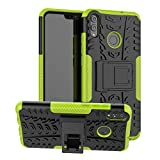 Labanema Honor 8X Funda, [Heavy Duty] [Doble Capa] [Protección Pesada] Híbrida Resistente Funda Protectora y Robusta para Huawei Honor 8X /Honor View 10 Lite (con 4 en 1 Regalo empaquetado) - Verde