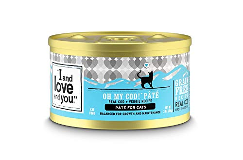 """""""I and love and you"""" Naked Essentials Canned Wet Cat Food - Grain Free, Cod + Chicken, 3-Ounce, Pack of 24 Cans"""