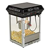 FunTime Carnival Style 4-Ounce Hot Oil Popcorn Machine, Black