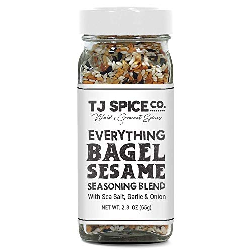 TJ Everything but the Bagel Sesame With Sea Salt, Garlic and Onion, Delicious Blend of Sea Salt and Spices Garlic Powder Onion Flakes