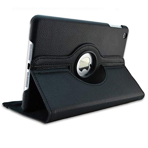 360 Degrees Rotating PU Leather Flip Cover Case For iPad Mini 1 2 3 Stand Holder Cases Smart Tablet Case A1432 A1454 A1600 A1490,Black