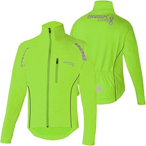 Brisk Bike Chaqueta de ciclismo Chaqueta de ciclismo ultraligera y transpirable para correr (Green, L)