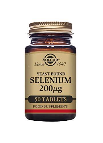 Solgar Yeast Bound Selenium 200 µg Tablets - Pack of 50