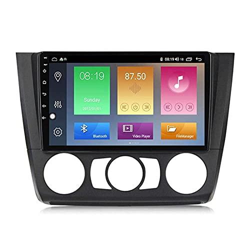 Unidad principal estéreo GPS de 9 pulgadas para BMW Serie 1 2008 – 2012, navegación GPS Android 10.0, Bluetooth/radio/FM/RDS/DSP/cámara de visión trasera